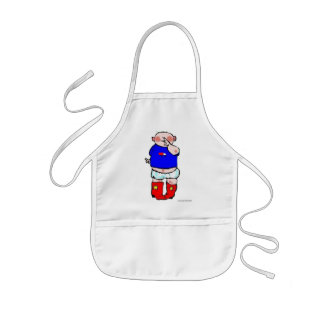 Red Cowboy Boots Kids Apron