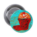 Red Cowboy Boots Pin