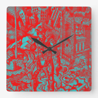 Red Cowboy Clock