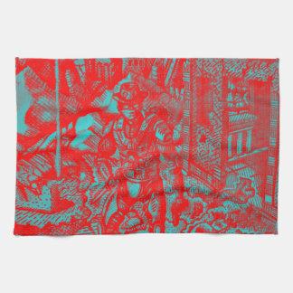 Red Cowboy Towel