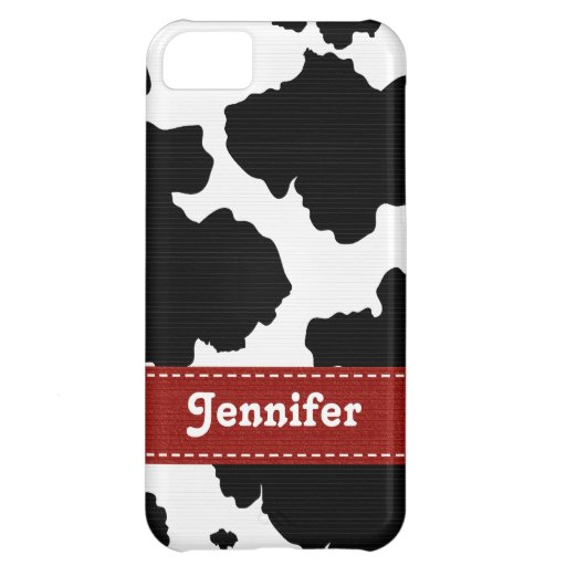 Red Cowhide iPhone 5C Covers