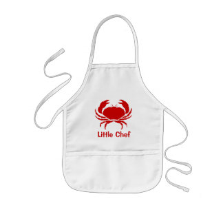 Red crab apron for kids | Personalizable with name