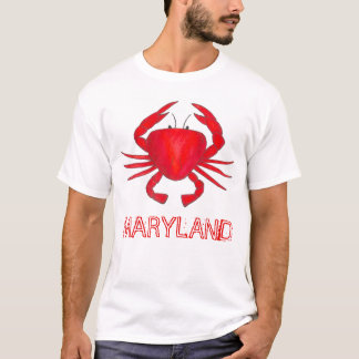 Red Crab Baltimore Maryland Crabs Seafood Tee
