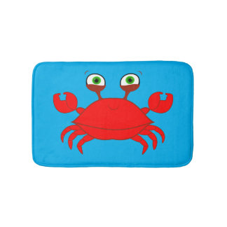 Red Crab Bath Mat Bath Mats