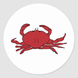 Red Crab Classic Round Sticker