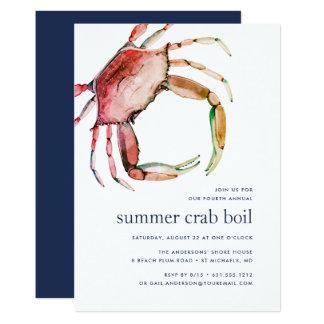 Red Crab   Crab Boil Invitation