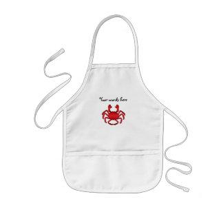 Red crab kids apron