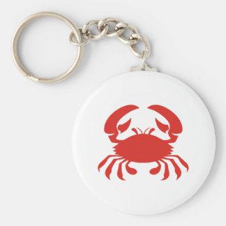 Red Crab Logo Basic Round Button Key Ring
