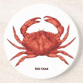 Red Crab (Pacific) Sandstone Coaster