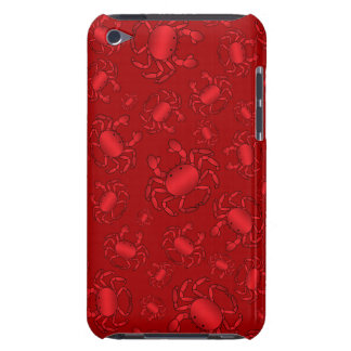 Red crab pattern barely there iPod covers
