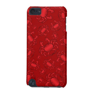 Red crab pattern iPod touch (5th generation) cases