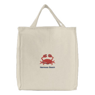 Red Crab Personalized Beach Bags