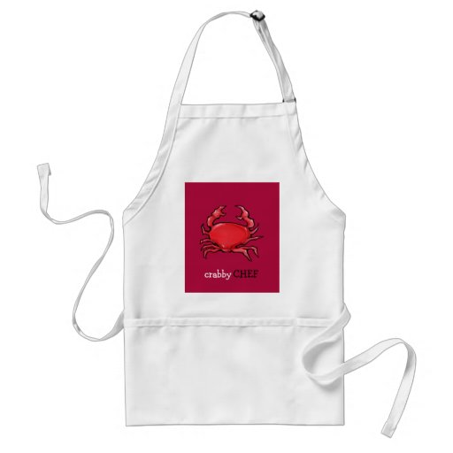 Red Crab red Crabby Chef Apron