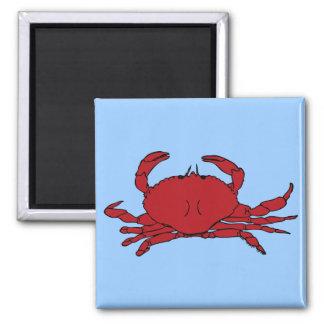 Red Crab Square Magnet