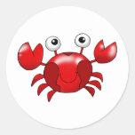 Red crab sticker