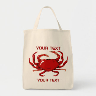 Red Crab Template  Grocery Tote Bag