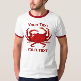 Red Crab Template Mens Ringer T-shirt