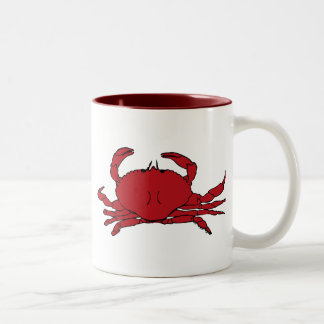 Red Crab Two-Tone Coffee Mug