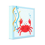 Red Crab Under The Sea Canvas Art Print