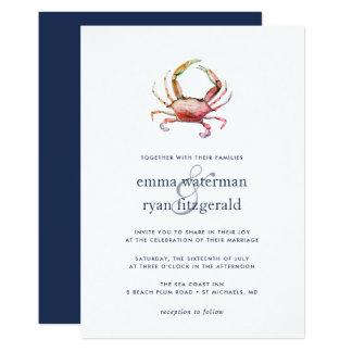 Red Crab Wedding Invitation