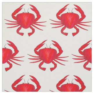 Red Crabs Maryland Crab Beach Ocean Summer Fabric