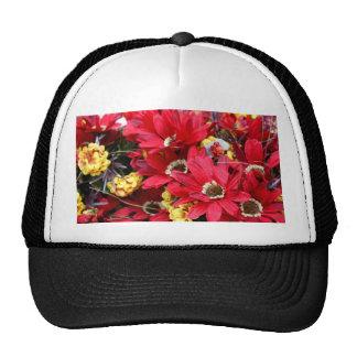 Red Craft Flowers Cap