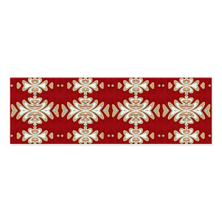 Red Cream Native American Style Pattern Business Card Templates