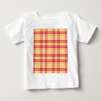 Red cream yellow check tees