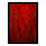 Red Creole Rain Poster