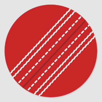 Red cricket ball stickers   Customizable with text