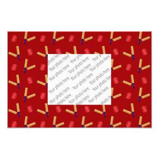 Red cricket pattern art photo