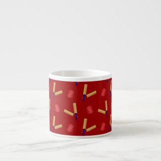 Red cricket pattern espresso cup