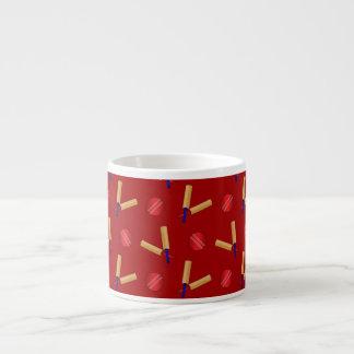 Red cricket pattern espresso cups