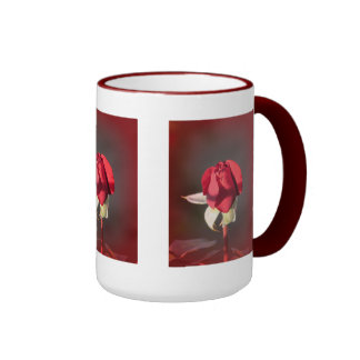Red Crimson Bouquet Rosebud Mug
