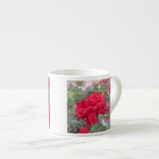 Red Crimson Bouquet Roses Espresso Mug