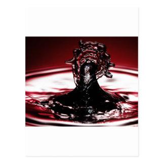 Red Crimson Water Drop Splash Postcard