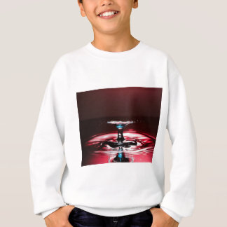 Red Crimson Water Droplet Splash Sweatshirt