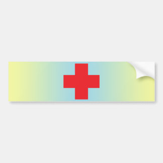 Red Cross Bumper Sticker