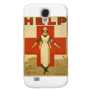 Red Cross Field Nurse Poster Reading HELP Galaxy S4 Cover