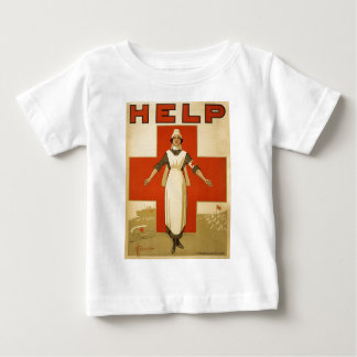 Red Cross Field Nurse Poster Reading HELP Shirts