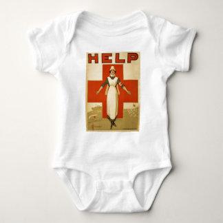 Red Cross Field Nurse Poster Reading HELP Tshirt