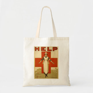 Red Cross Nurse Help Advertisement World War 2 Tote Bag