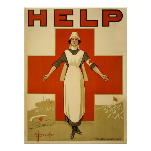 Red Cross Nurse WPA Vintage Poster