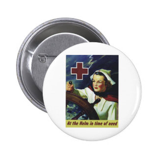 Red Cross Poster - Nurse at the Helm 6 Cm Round Badge