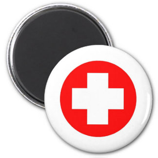 Red Cross Products & Designs! 6 Cm Round Magnet