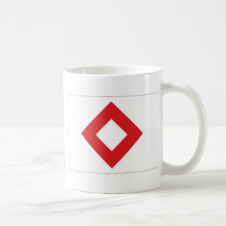 Red Cross Red Crystal Flag Coffee Mug