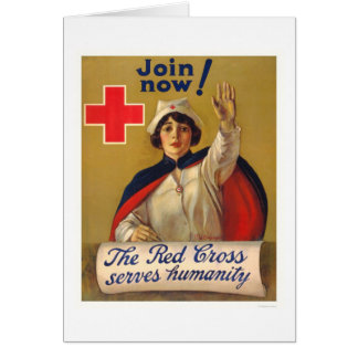 Red Cross serves humanity - Join now Greeting Card