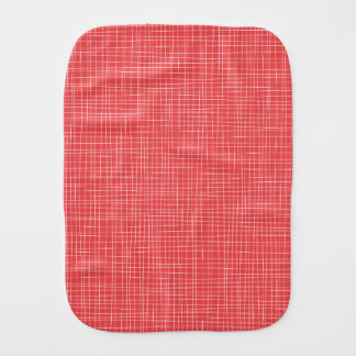 Red Crosshatch Burp Cloth