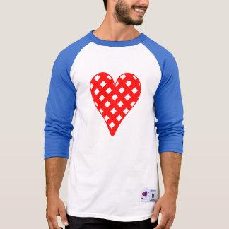 Red Crosshatch Heart Tee Shirt