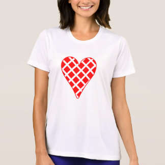 Red Crosshatch Heart T Shirts